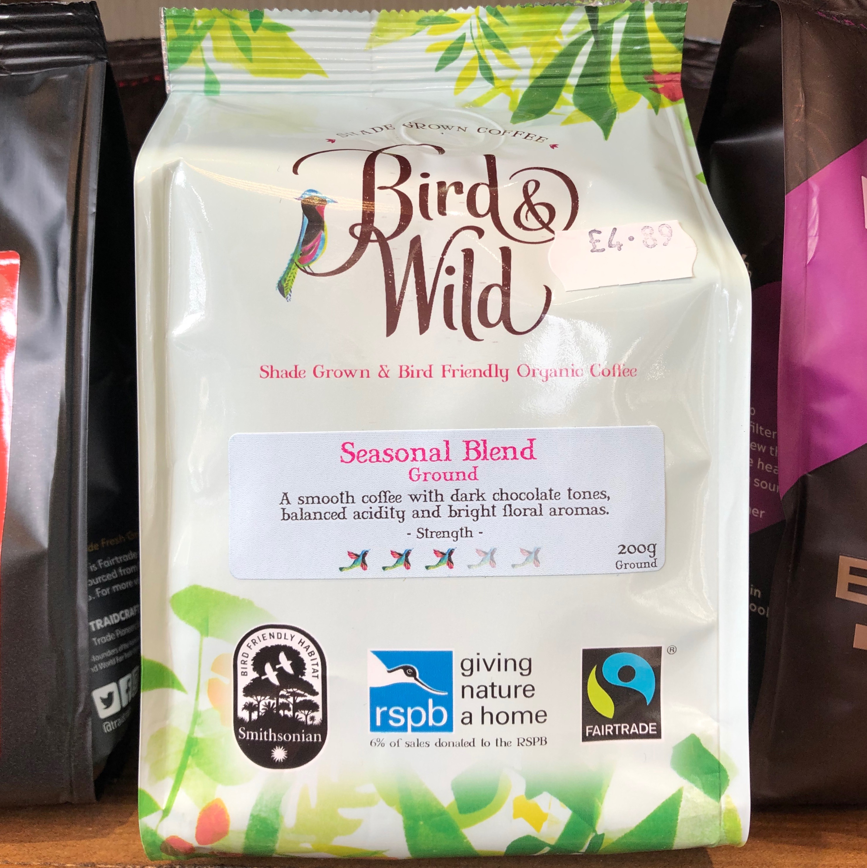 Bird & Wild bag of coffee